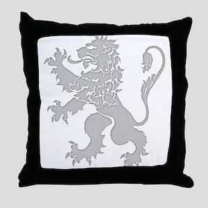 Grey Lion Rampant Throw Pillow
