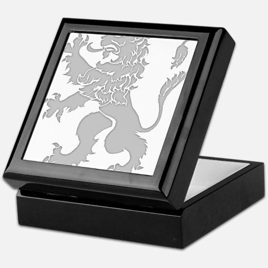 Grey Lion Rampant Keepsake Box