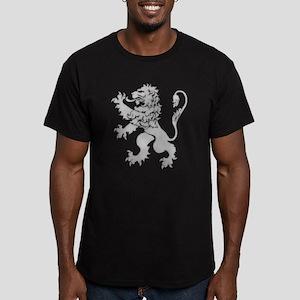 Grey Lion Rampant Men's Fitted T-Shirt (dark)