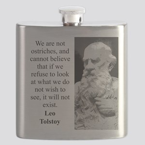 We Are Not Ostriches - Leo Tolstoy Flask