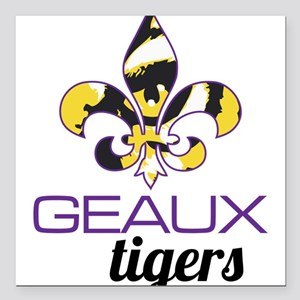 "Louisiana Tigers Square Car Magnet 3"" x 3"""