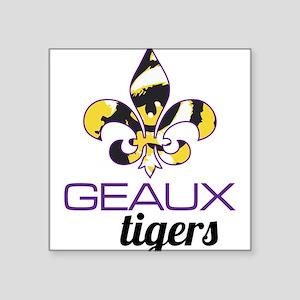 """Louisiana Tigers Square Sticker 3"""" x 3"""""""