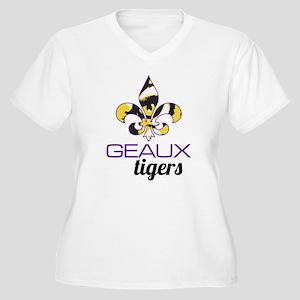 Louisiana Tigers Women's Plus Size V-Neck T-Shirt