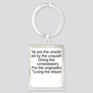 Living the dream Portrait Keychain