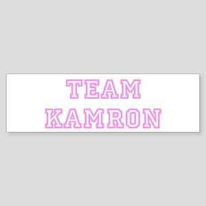 Pink team Kamron Bumper Sticker