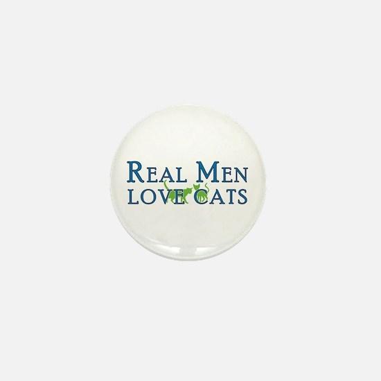 Real Men Love Cats 5 Mini Button