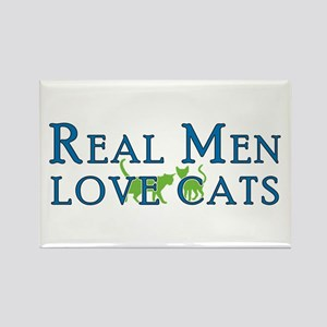 Real Men Love Cats 5 Rectangle Magnet