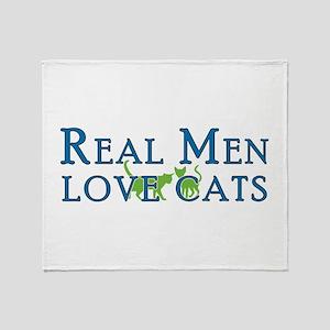 Real Men Love Cats 5 Throw Blanket