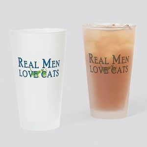 Real Men Love Cats 5 Drinking Glass
