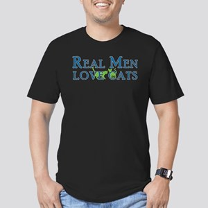 Real Men Love Cats 5 Men's Fitted T-Shirt (dark)