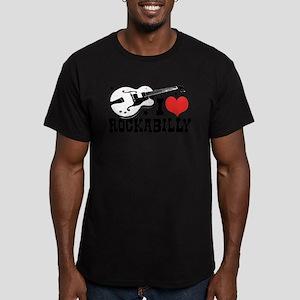 I Love Rockabilly Men's Fitted T-Shirt (dark)
