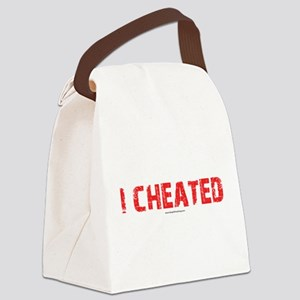 I Cheated Canvas Lunch Bag