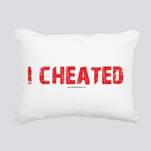 I Cheated Rectangular Canvas Pillow