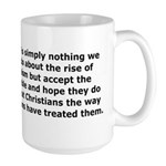 Rise of Atheism Quote Large Mug