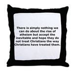 Rise of Atheism Quote Throw Pillow