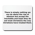 Rise of Atheism Quote Mousepad