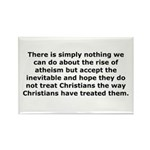 Rise of Atheism Quote Rectangle Magnet (10 pack)