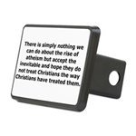 Rise of Atheism Quote Rectangular Hitch Cover