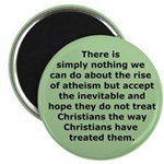 Rise of Atheism Quote button Magnet