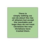 Rise of Atheism Quote button Square Sticker 3