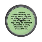 Rise of Atheism Quote button Wall Clock