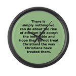 Rise of Atheism Quote button Large Wall Clock