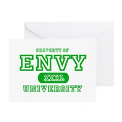 Envy University Property Greeting Cards (Package o