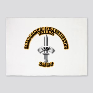 Army - Badge - LRRP 5'x7'Area Rug