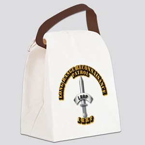 Army - Badge - LRRP Canvas Lunch Bag