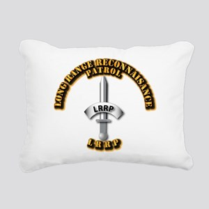 Army - Badge - LRRP Rectangular Canvas Pillow