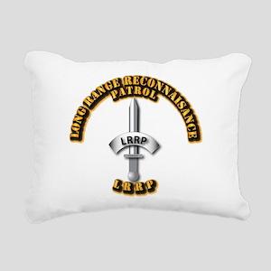 Army - Badge - LRRP Rectangular Canvas Pillow