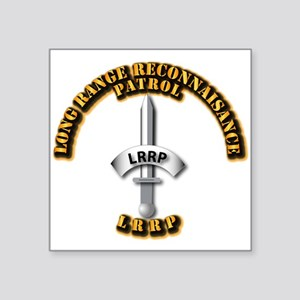 "Army - Badge - LRRP Square Sticker 3"" x 3"""