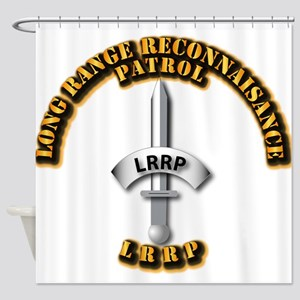 Army - Badge - LRRP Shower Curtain