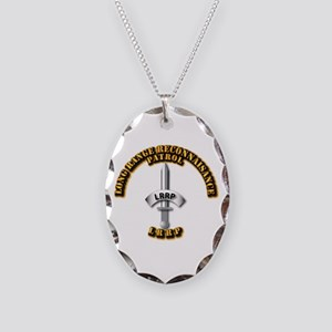 Army - Badge - LRRP Necklace Oval Charm