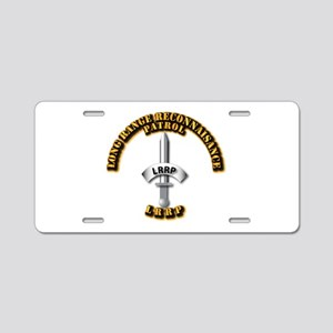 Army - Badge - LRRP Aluminum License Plate