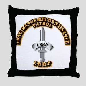 Army - Badge - LRRP Throw Pillow