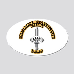 Army - Badge - LRRP 20x12 Oval Wall Decal