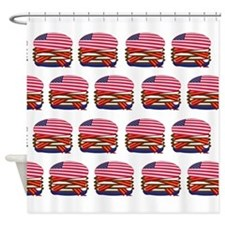 USA Burger Shower Curtain