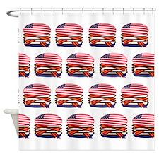 USA Burger Shower Curtain