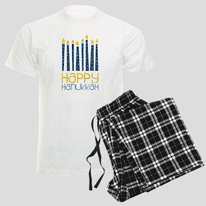 Happy Hanukkah Men's Light Pajamas