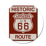 Lenwood Route 66 Round Car Magnet