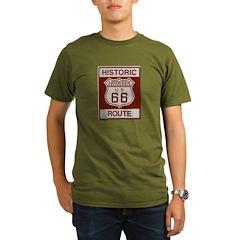 Lenwood Route 66 Organic Men's T-Shirt (dark)