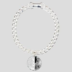 The Hero Of My Tale - Leo Tolstoy Charm Bracelet,