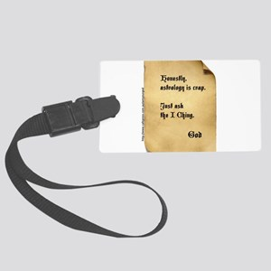 God and the I Ching Large Luggage Tag