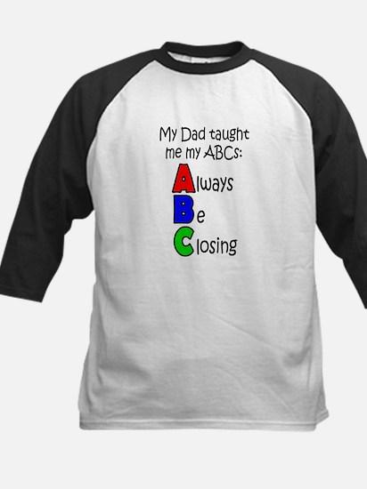 Always Be Closing - Dad Kids Baseball Jersey