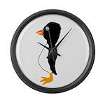 Penguin Profile Large Wall Clock