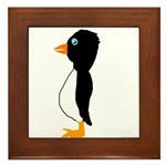 Penguin Profile Framed Tile