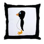 Penguin Profile Throw Pillow