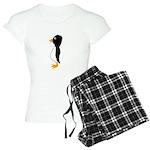 Penguin Profile Women's Light Pajamas
