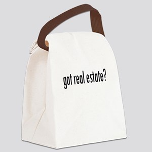 got real estate? Canvas Lunch Bag